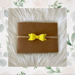 👑Sparkly Sunshine Yellow Clip In or Bow on Nylon!